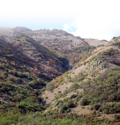Le Ravin Gandoet – Prise de vue de l'Olivella - Photographie FLG – Tous droits réservés