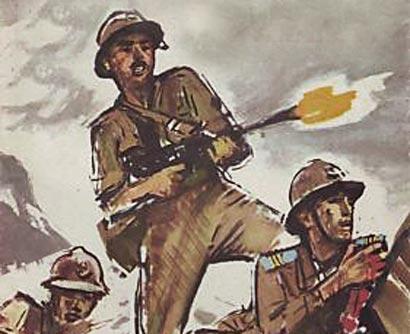Illustration tir soldat