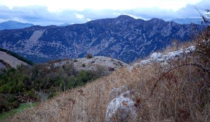 Le Monte Cifalco – Prise de vue de la cote 721 du Belvédere - Photographie FLG – Tous droits réservés