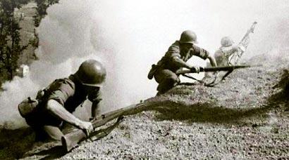 Soldats au front