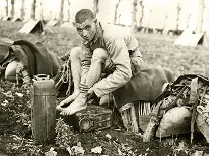 Photographie prise à Caserta le 12 février 1944 – Provenance: NARA